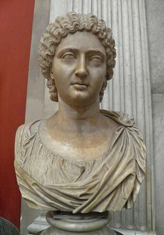 Bust of a princess of the Severian period, Vatican Museum, Rome, Italy. Found by Giovanni Volpato in 1780 on the Quadraro estate, between th...