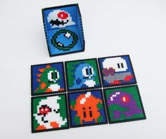 bubble bobble COASTER SET with COASTER HOLDER with this I'd be totally coastin' around