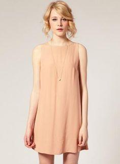 Bqueen Nude-colored Silk Dress MM0004,  Dress, Bqueen Nude-colored Silk Dress, Urban / Streetwear