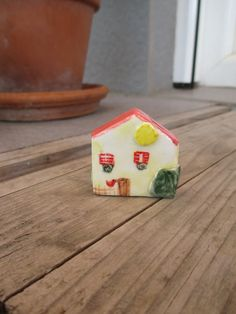 Hey, I found this really awesome Etsy listing at https://www.etsy.com/listing/236324463/little-yellow-ceramic-housesmall-sunny