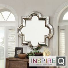 Inspire Q Nihoa Silver Casbah Octagon Accent Wall Mirror | Overstock.com Shopping - Great Deals on INSPIRE Q Mirrors