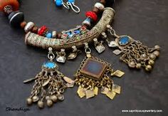 Image result for polymer clay tribal jewellery