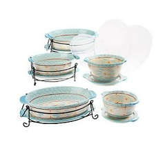 Temp-tations Old World 13-pc. Lid-it Oven-to-Table Set. Want to try Temp tations so badly...love this teal!