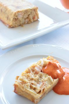 Pastel de puerros y gambas Quiche, Waffles, French Toast, Fish, Cooking, Breakfast, Puddings, Savory Snacks, Holiday Foods