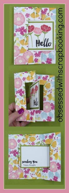 Obsessed with Scrapbooking: [Video]Swing Fancy Fold Card