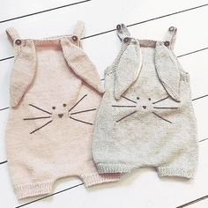 WEBSTA @ shirleybredal - 🐰🐰 b u n n y l a u n c h 🐰🐰.Sorry for the 1 day delay. The first drop of our bunny suits in cotton will launch tomorrow at 10 AM Danish time. There will be a second drop coming up 🙏🏻😘. Booties Crochet, Crochet Baby Sandals, Hat Crochet, Knitted Romper, Knitted Baby, Baby Knitting Patterns, Baby Patterns, Blanket Patterns, Baby Afghans