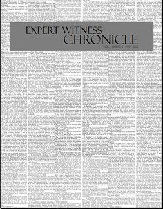 Expert Witness  Magazine | Expert Witness Chronicle | Vol 1, Issue 2