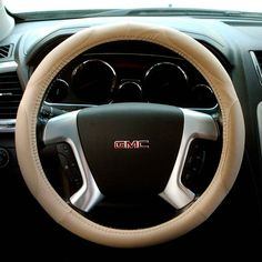 ABN PVC Leather Steering Wheel Cover Universal Fit 15-Inch Wrap Detail