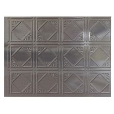 .  Fasade 24-1/2-in Cross Hatch Silver Thermoplastic Multipurpose Backsplash