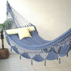 Patio hammocks - Pin it! :) Follow us :))  zPatioFurniture.com is your Patio Furniture Gallery ;) CLICK IMAGE TWICE for Pricing and Info :) SEE A LARGER SELECTION of  patio hammocks at http://zpatiofurniture.com/category/patio-furniture-categories/hammocks/ - home, patio, home decor - Nicamaka Couples Hammock -Cirrus Blue « zPatioFurniture.com