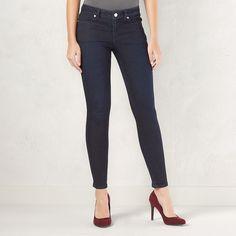 Women's LC Lauren Conrad Jeggings, Size: 10 Short, Dark Blue