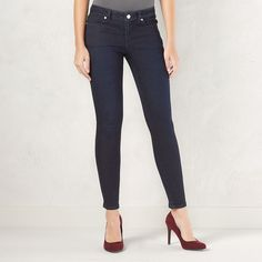 Women's LC Lauren Conrad Jeggings, Size: 8 T/L, Dark Blue