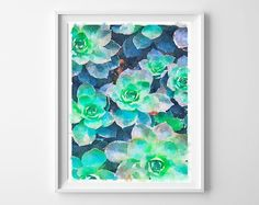 watercolor succulents free printable
