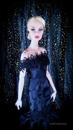 """Model - """"Black Orchid"""" Vanessa Perrin Gown - V Jhon Jewelry - Fashion Royalty"""