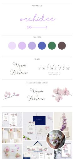 partecipazioni orchidee * moodboard di ispirazione floreale, dedicata all'orchidea. Mood Boards, Wedding Styles, Palette, Pallet, Wedding Outfits