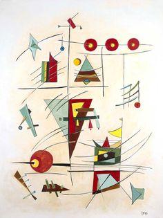 'Game I', by Leo. Medium: Acrylic. Fine Art Supplier - Drai Fine Art.