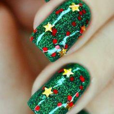 Art nail Noël
