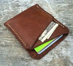 Minimalist wallet Mens wallet Front pocket by Wallingandsons