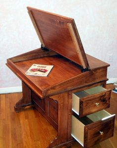 Captain's Desk Davenport writing art study by ArkansasWoodcraft, $745.00