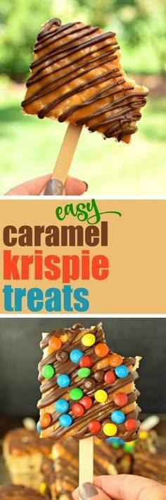 These Easy Gourmet These Easy Gourmet Caramel and Chocolate...  These Easy Gourmet These Easy Gourmet Caramel and Chocolate Rice Krispie Treats are so fun to make AND eat! Perfect for birthdays bake sales and even a fun snack the kids can help make! #bakesale #krispietreats Recipe : ift.tt/1hGiZgA And My Pinteresting Life | Recipes, Desserts, DIY, Healthy snacks, Cooking tips, Clean eating, ,home dec  ift.tt/2v8iUYW