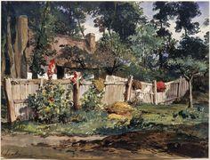 Eugène Isabey, Jardin à Varengeville, Paris, Musée du Louvre