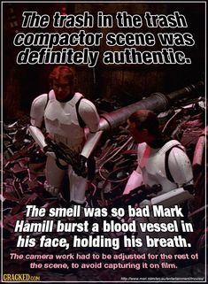 Some fans claim you can see a burst blood vessel in his eye in the trench run scenes, too. #starwars