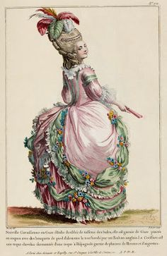 Original version of a 1780 French Fashion Plate