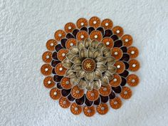 Wand- oder Türschmuck aus Nespresso Kapseln