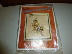 Vintage Bucilla Orioles Birds Crewel Needlepoint Kit by BathoryZ, $49.00