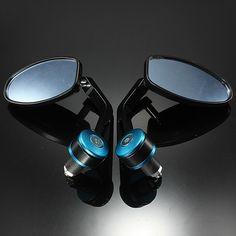 Aliexpress.com: Comprar Universal 7/8 azul Bar End espejos Moto Moto de la motocicleta Scooters espejo retrovisor vista lateral espejos Cafe Racer de 5x espejo fiable proveedores en Awesome For You Co.,Ltd.
