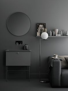 simple bathroom collections for the design conscious - bathroom range by Swedish furniture company Swoon - Styling by Lotta Agaton Interior Design Examples, Grey Interior Design, Bathroom Interior Design, Interior Design Inspiration, Design Ideas, Design Blogs, Bad Inspiration, Bathroom Inspiration, Deco Cool