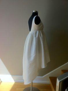 "Short Wedding Dress Tea Length, Open Back ""MITZI"". $255,00 USD, via Etsy."