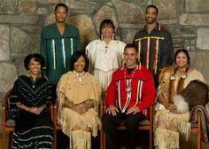 Black Native American indian family