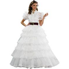 Deluxe Scarlett O'Hara Southern Belle Costume Adult Women Antebellum White Dress