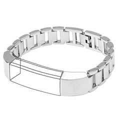 Henoda Metal Watch Bands Stainless Steel Bracelet for Fitbit Alta Silver -- Click image to review more details. (Note:Amazon affiliate link)