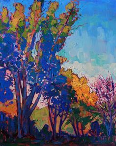 "Pink under painting? Paso Robles oil painting ""Jewel Shadows"" by California landscape artist Erin Hanson Erin Hanson, Art And Illustration, Landscape Art, Landscape Paintings, Imagen Natural, Modern Impressionism, Shadow Art, Tree Art, Oeuvre D'art"