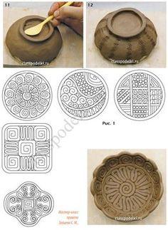 Clase magistral de hacer manualidades de cerámica para principiantes.