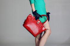 Crocodile genuine cow Leather Handbag