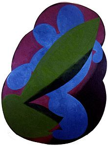 Elizabeth Murray  Brush's Shadow  Oil on canvas  116 x 86 inches