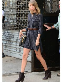 Taylor Swift Street Style 2014 - Taylor Swift New York Fashion - Marie Claire