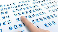 Braille Personnalisé Message tactile Anniversaire THANK YOU Carte de vœux pour aveugle