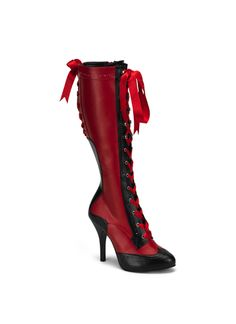 GOES WITH THE BEFORE MENTIONED COWBOY AND SALOON GIRL PRETTIES...Red/black knee boots