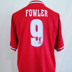 1996-1998 Liverpool Home Football Shirt Large FOWLER #9 - class shirt from @classic_eleven_united  get yours in our shop #football #footballshirt #footballshirtcollective #liverpool #lfc #fowler #robbiefowler #premierleague