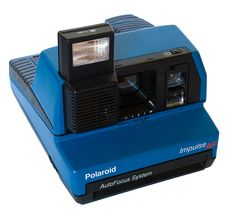 Rare Blue Polaroid Impulse 600 Camera