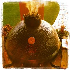 Perfect food every time. Big Green Egg.