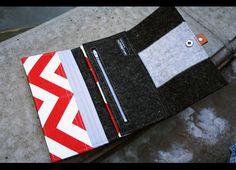 Merino wool felt Iphone trifold wallet  grey by AlexMLynch on Etsy, $75.00