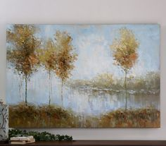 View of the Lake  # 34266 Uttermost artwork 60x40x2d price 441.00 client Heatly