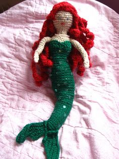Mermaid doll, love this, designer made the scales go all the way up instead of a separate shell bra.