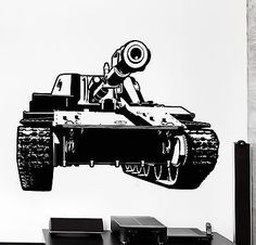 Wall Vinyl Tank Military War Army Cool Decal (z3419)