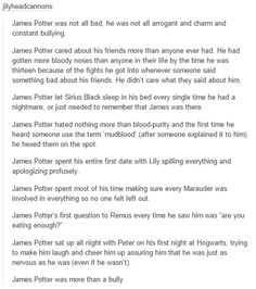 James Potter was an amazing person and deserves to be recognized as such